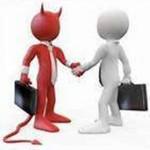 devils handshake